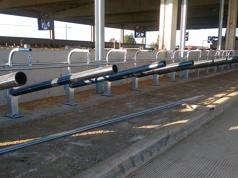 Galvanized steel bunks with PVC tube